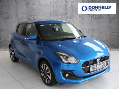 Suzuki Swift 1.0 Hatchback SZ5 Hatchback Petrol / Electric Hybrid Speedy blue at Suzuki UCL Milton Keynes